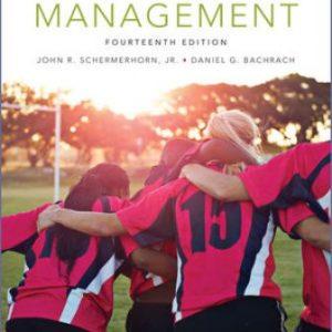 Test Bank for Management 14E Schermerhorn Jr.