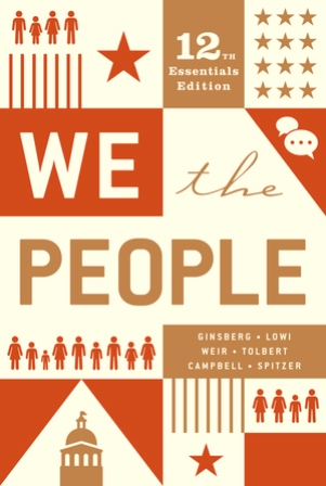 Test Bank for We the People Essentials 12E Ginsberg