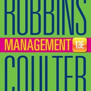 Test Bank for Management 13E Robbins